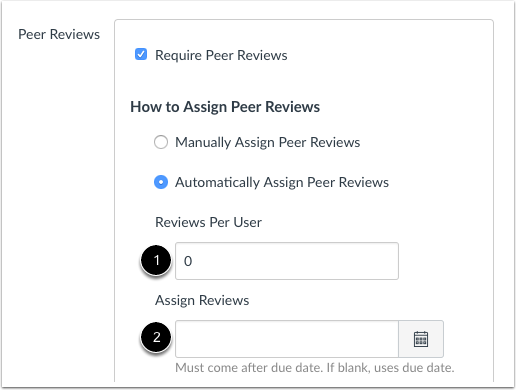 How Do I Create A Peer Review Assignment