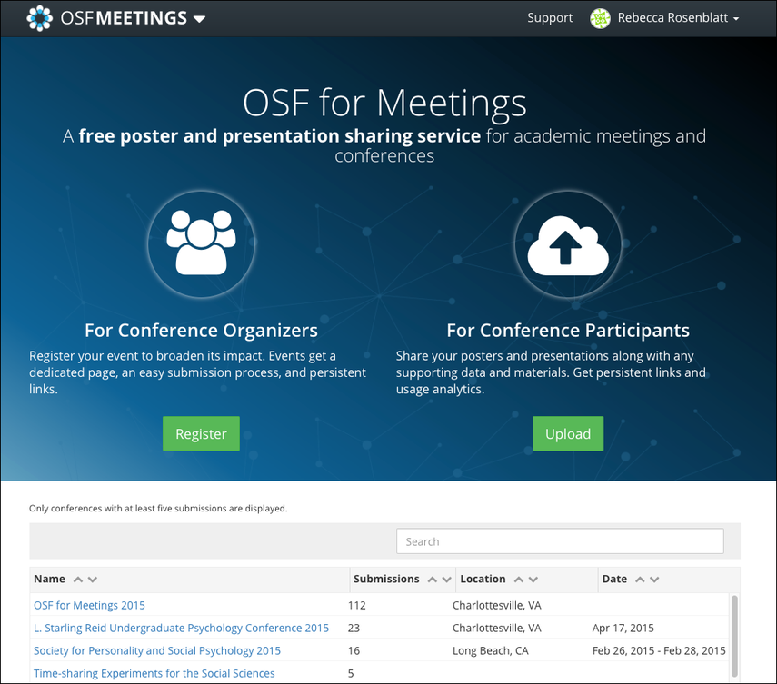OSF for Meetings