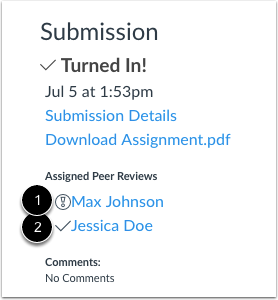 Open Assigned Peer Review