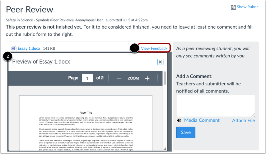 Create Annotated Feedback