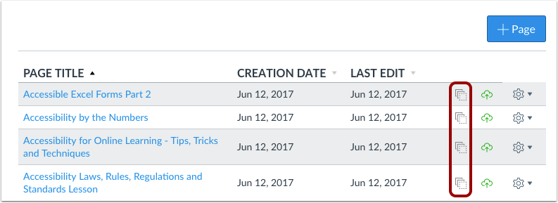 View Pages in Blueprint Course