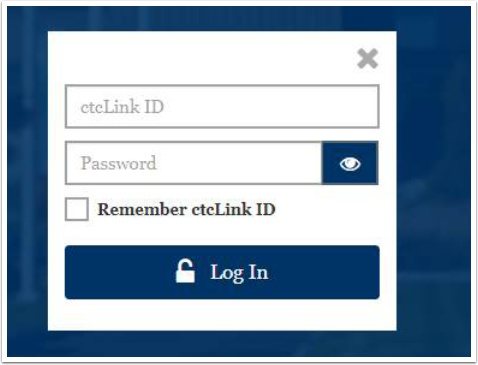 ctcLink login page