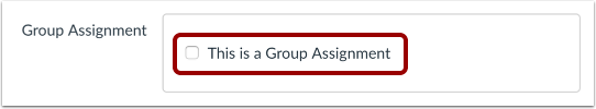 Select Group Assignment