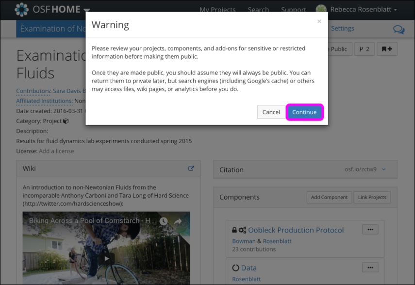 "The ""Warning"" Modal"