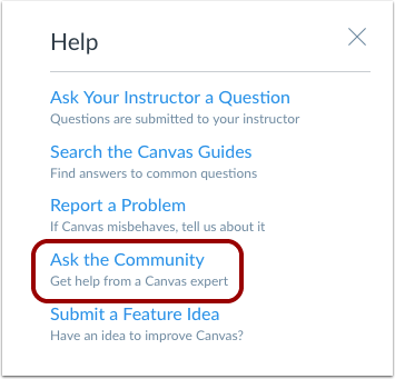 Ask the Community