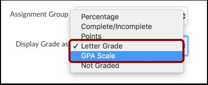 Edit Grading Type