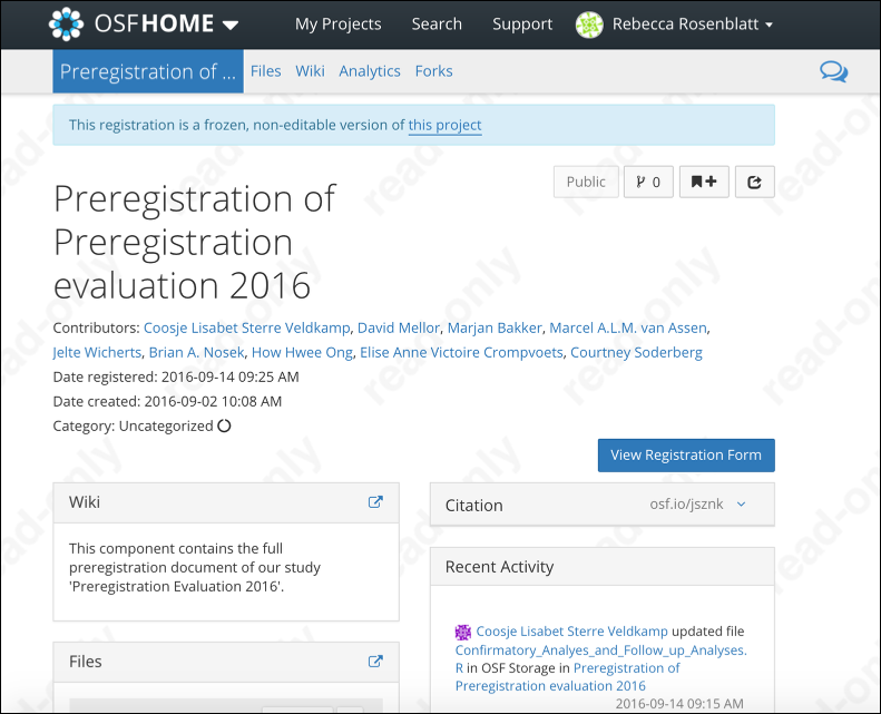 """Registration """"Overview"""" Page"""