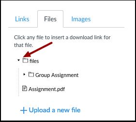 Open Files Folder