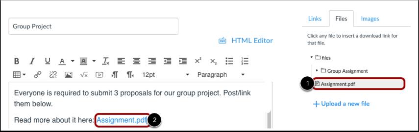 Insert File Link