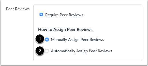 Assign Peer Reviews