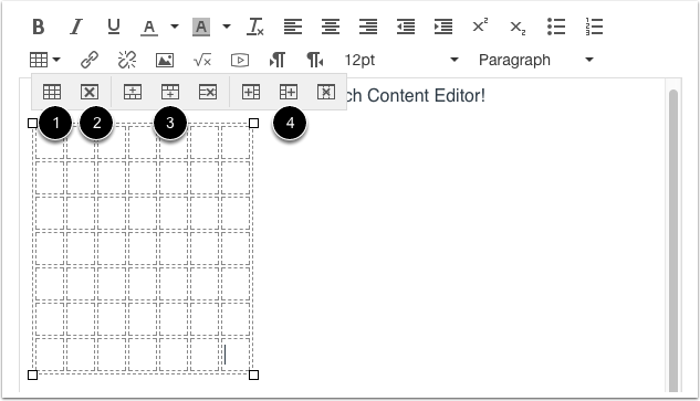 Edit Table Layout