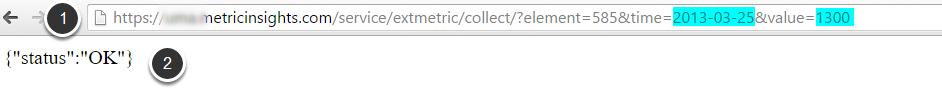 Enter Data using URL