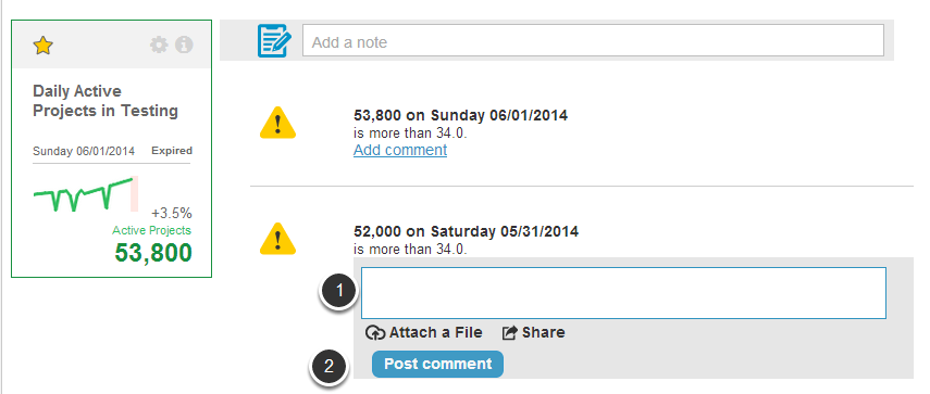 Comment on existing Annotations, Events, and Alerts