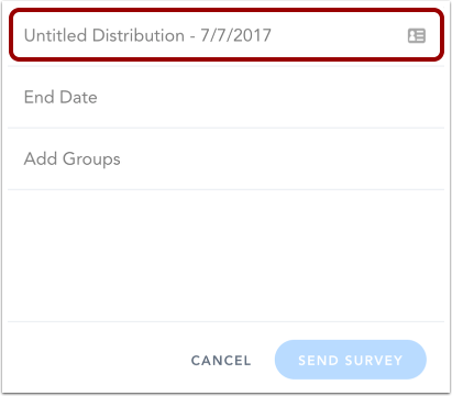 Add Distribution Name