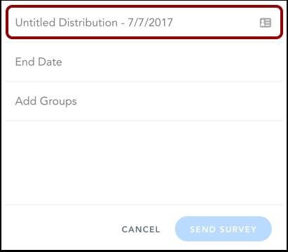 Ajouter le nom de la distribution