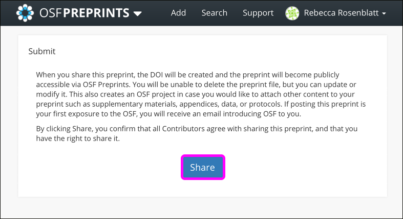 Share Your Preprint