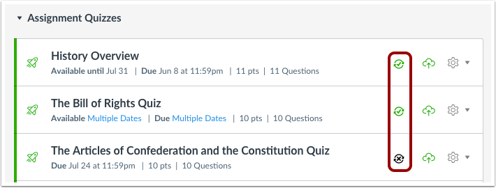View SIS Quizzes