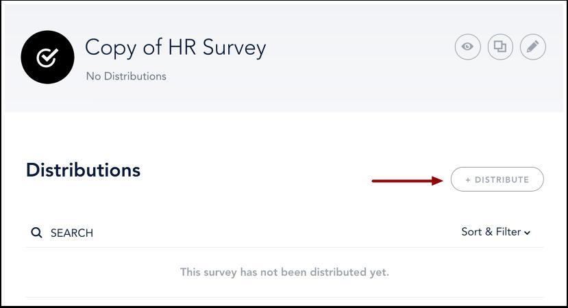 Distribute Survey
