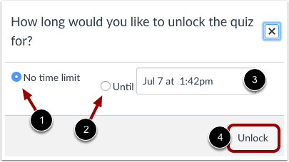 Unlock Quiz Limit