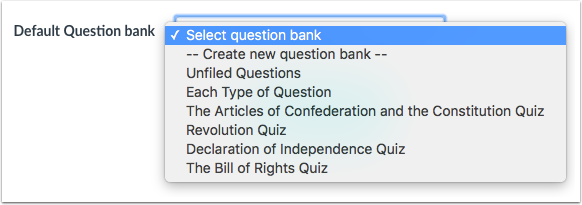 Crear banco de pregunta