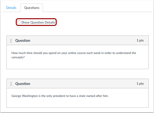How Do I Create A Quiz With Individual Questions Canvas Lms Community