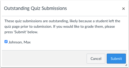 Submit Quiz Submissions