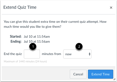 Extend Quiz Time