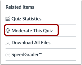 Moderate This Quiz