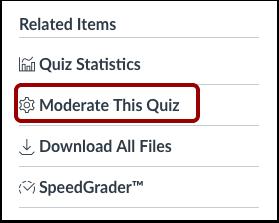 Moderate This Quiz