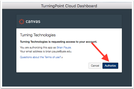 Authorize TurningTechnologies Access to Canvas Information