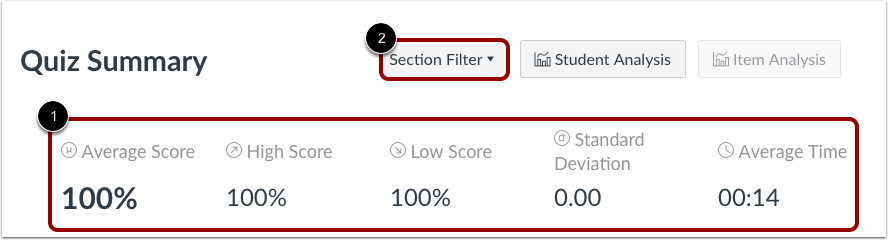 View and Filter Statistics