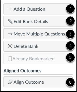 Opções do Banco de Perguntas