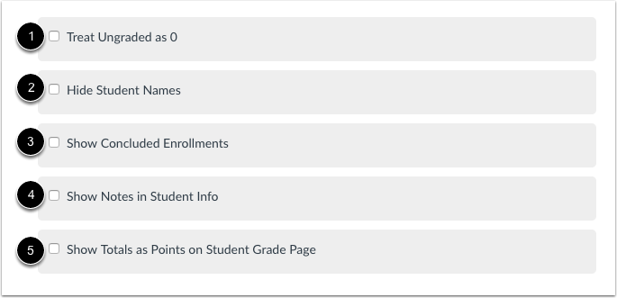 Select Gradebook Settings