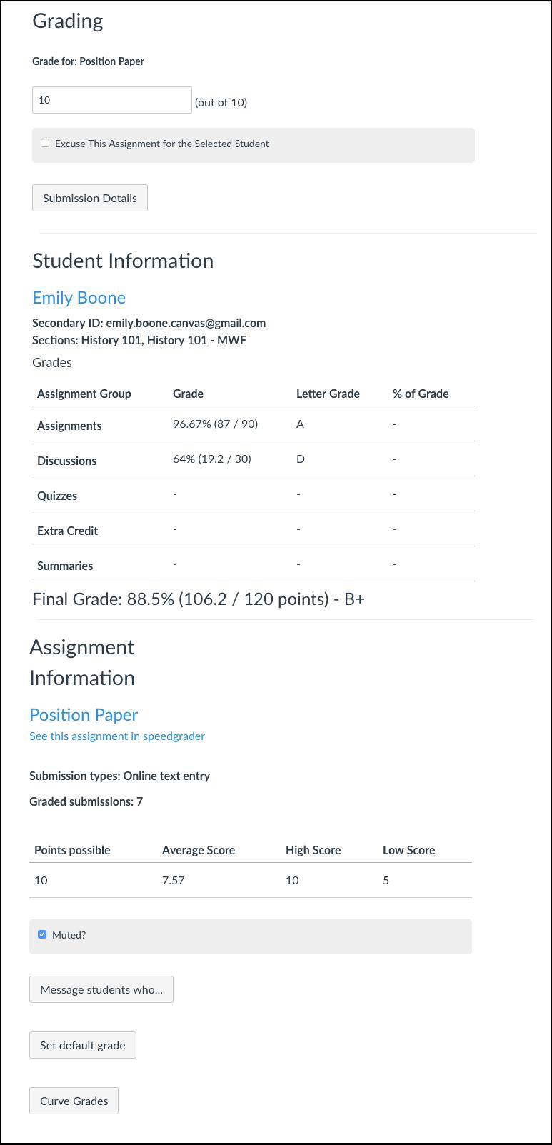 View Gradebook Information