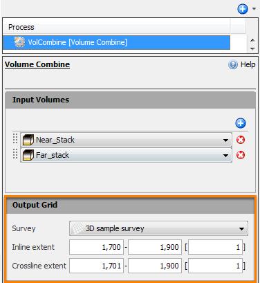 Define the output extents