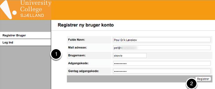 Registrer Bruger