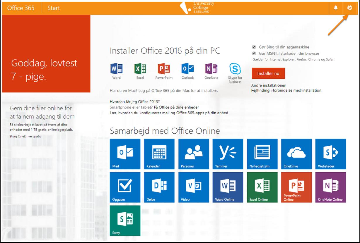Her kan du installere Office 365 på dansk