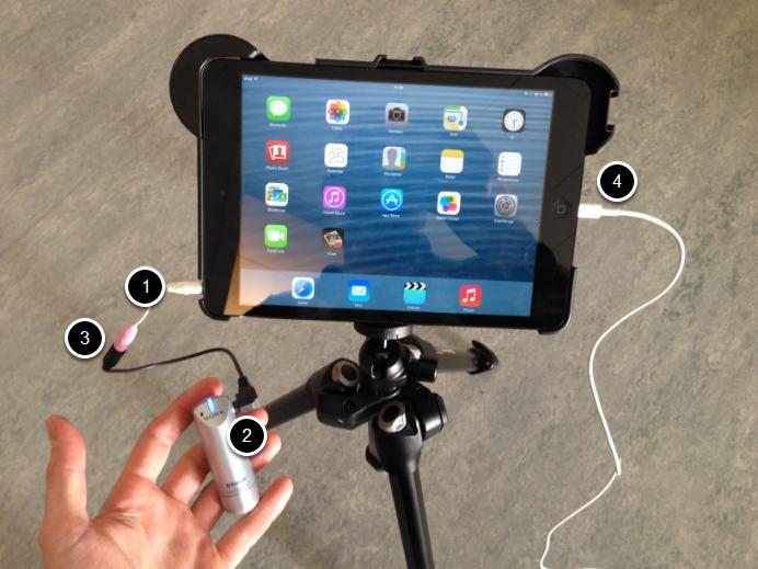 Tilslut mikrofon til iPad