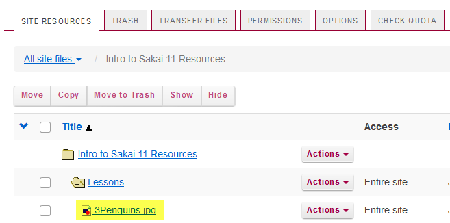 Notice the image file location in Resources.