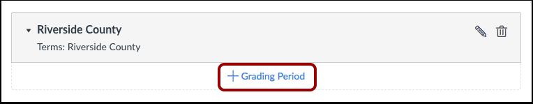 Add Grading Period