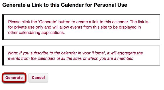 Click Generate.
