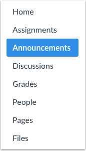 Open Announcements