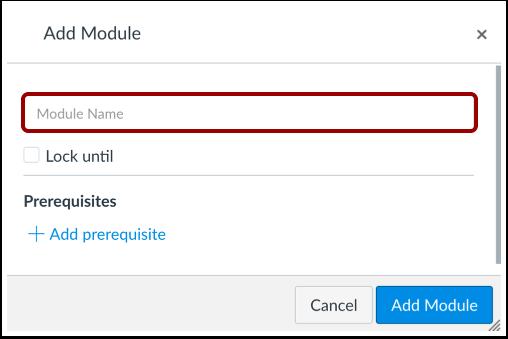 Add Module Name