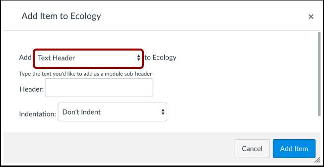 Select Item Type