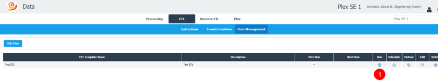 Run the Test ETL Template