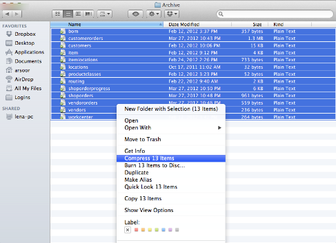 Compress (zip) files to be uploaded