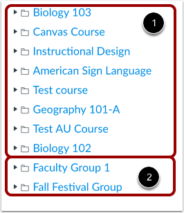 View Course and Group Files
