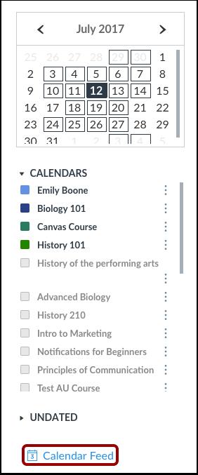Open Calendar Feed