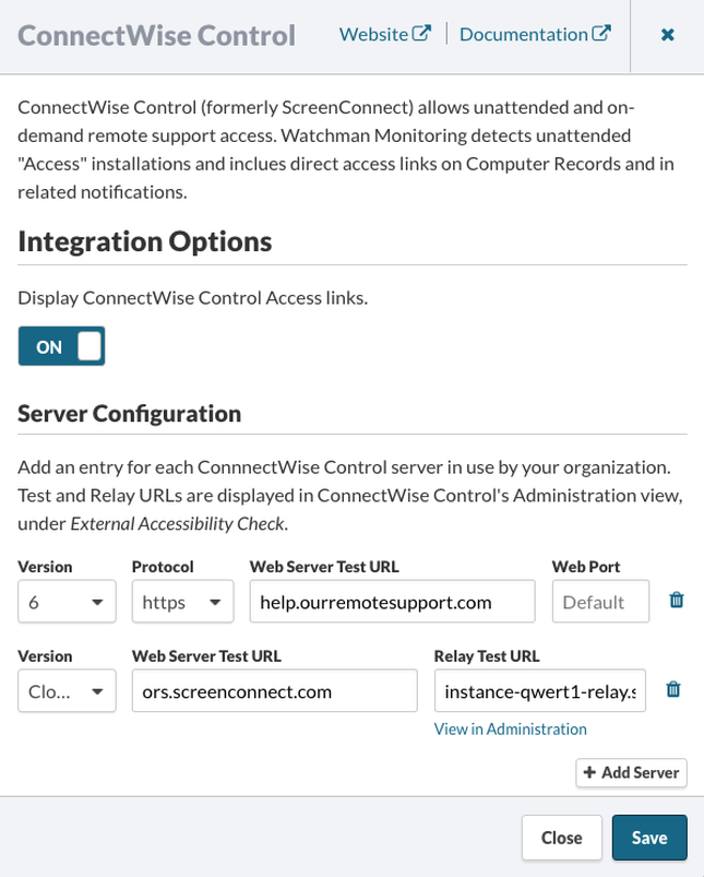 ConnectWise Control Server Configuration
