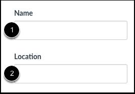 Crear nombre y ubicación